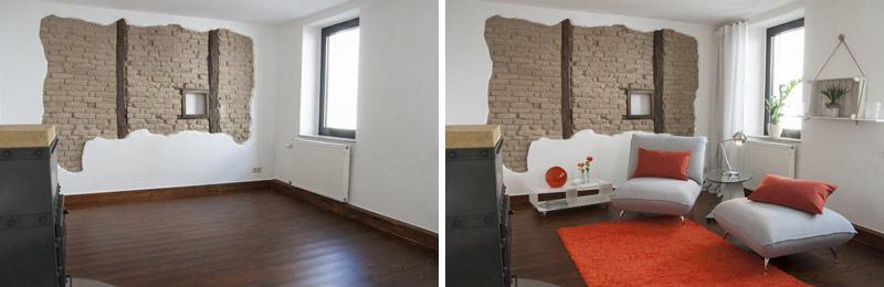 So kann Home Staging einen Raum verändern.